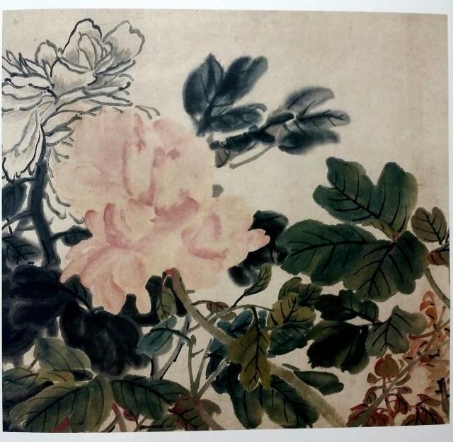 经典绘画临摹范本:任伯年小品篇(1-6)全6册 国画牡丹荷花临摹本扇面