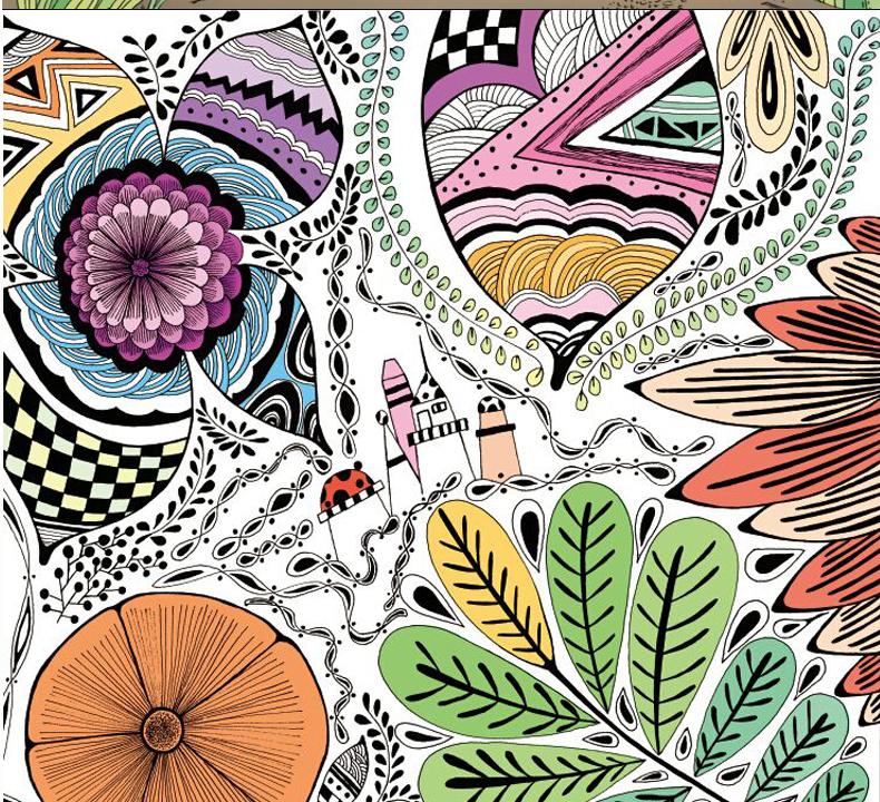 魔幻花园 秘密森林 全2册 你的手绘涂色魔法册