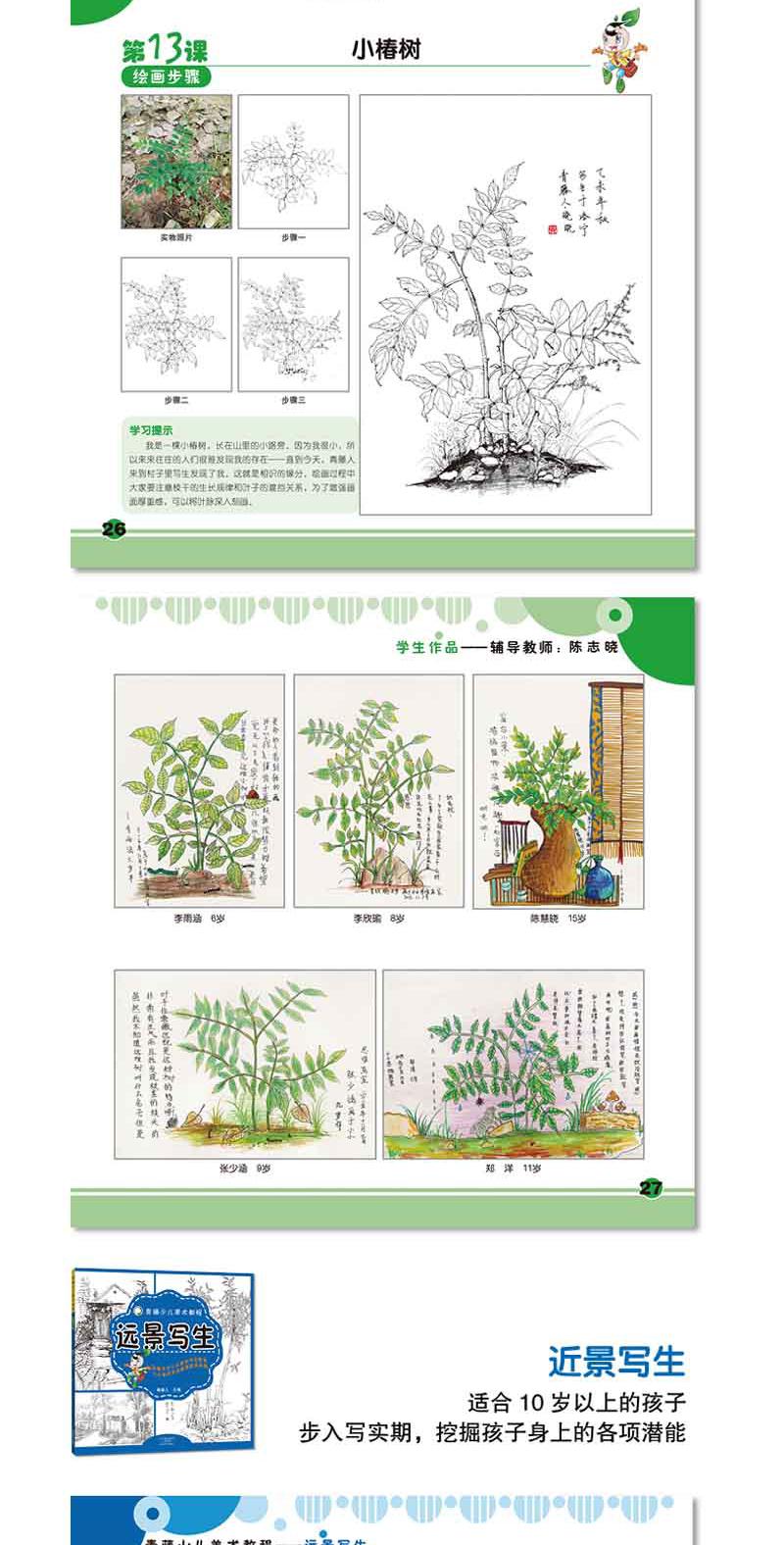 正版青藤少儿美术教程全套7册风景写生装饰线描画儿童美术培训