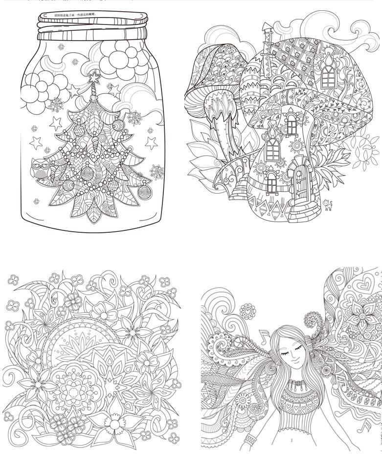 减压书籍成人填涂图鸦色手绘本画画一册全套装魔法森林适合儿童中文版