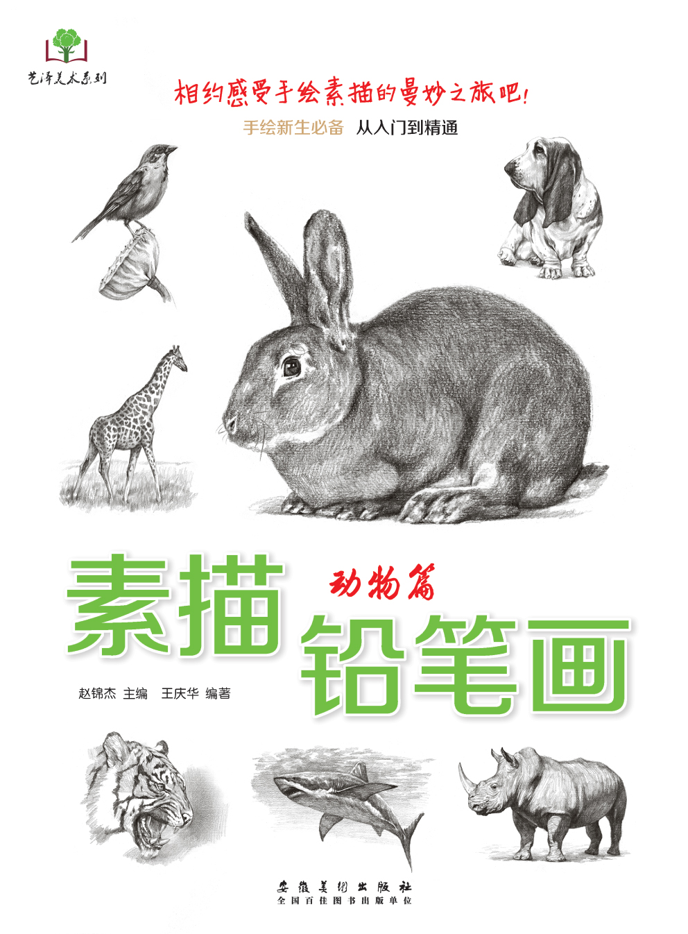 正版 素描铅笔画 动物篇 画马虎狮子兔猪等画法 手绘新生必备从入门到