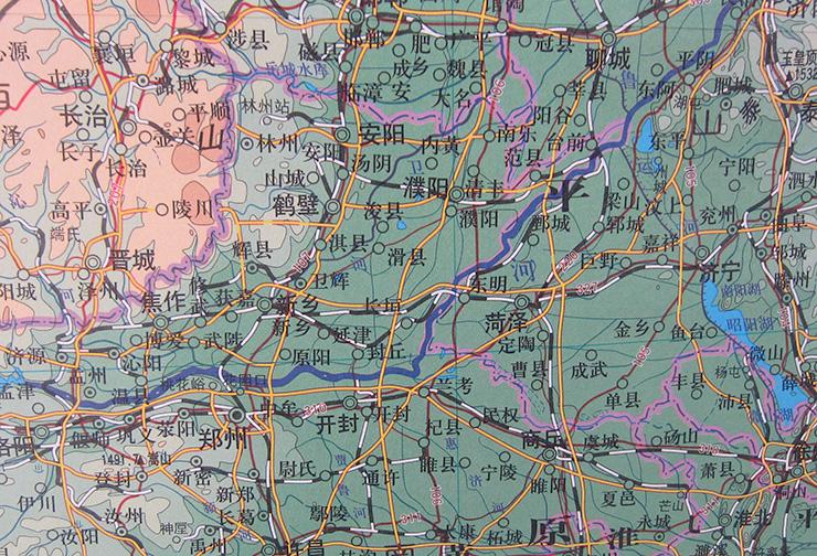 包邮!中国地图地形图 挂轴地图 大型挂图 2米x1.
