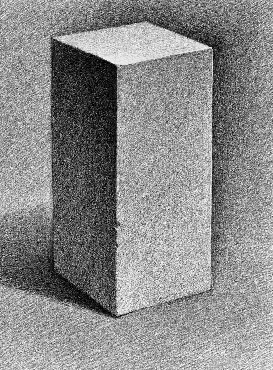 长方体基础素描-基础素描 从初识到入门 饶新良图片