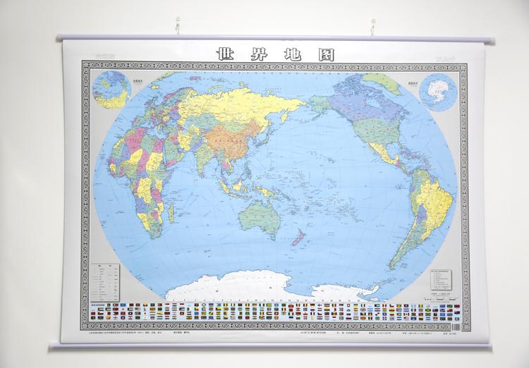 【全新正版t】 世界地图(双全开精装挂图)(2017版)